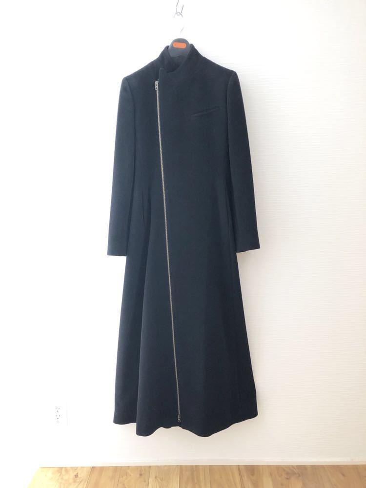 出品ラスト!美品!ジャンポール・ゴルチエ JEAN PAUL GAULTIER ロングコート コート アンゴラ 黒 レディース 40サイズ