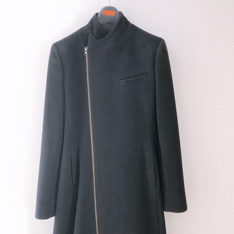 美品!ジャンポール・ゴルチエ JEAN PAUL GAULTIER ロングコート コート アンゴラ 黒 レディース 40サイズ