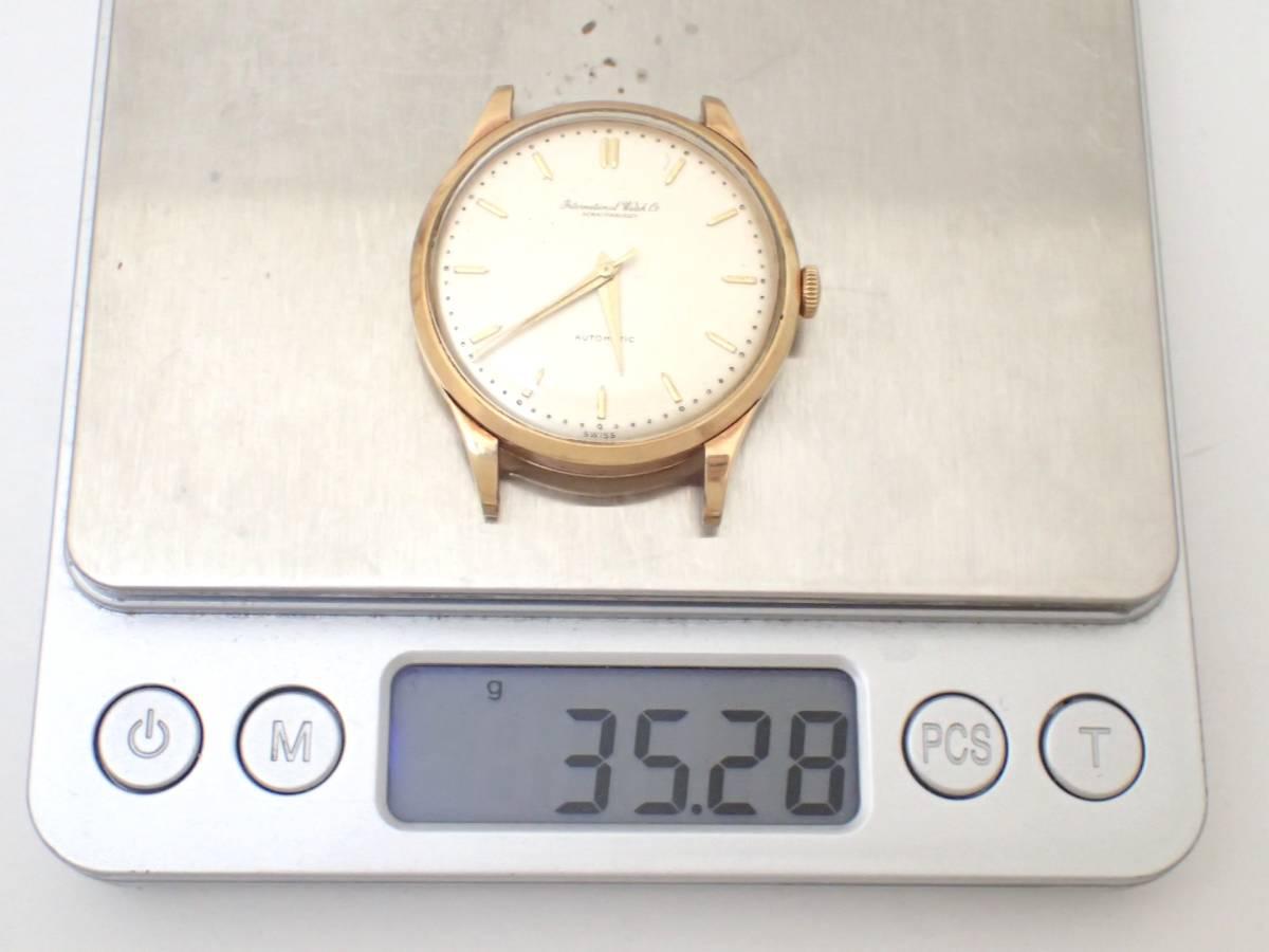 *美品*IWC/オールドインター/SCHAFFHAUSENシャフハウゼン/18K750/金無垢/Cal.853/自動巻/デイト/メンズ腕時計/ペラトン式/総重量:35.28g[T_画像9