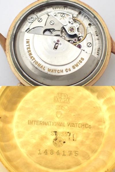 *美品*IWC/オールドインター/SCHAFFHAUSENシャフハウゼン/18K750/金無垢/Cal.853/自動巻/デイト/メンズ腕時計/ペラトン式/総重量:35.28g[T_画像7