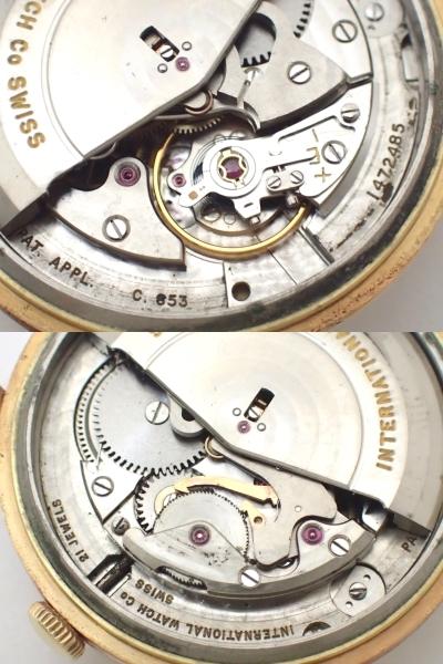 *美品*IWC/オールドインター/SCHAFFHAUSENシャフハウゼン/18K750/金無垢/Cal.853/自動巻/デイト/メンズ腕時計/ペラトン式/総重量:35.28g[T_画像8