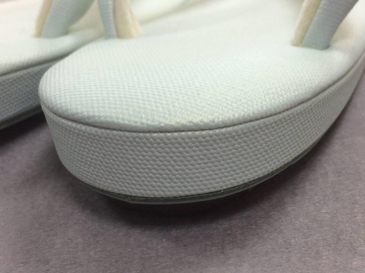 新作!Lサイズ◆きれいなパステル系 帆布の生地の草履です。丈夫で軽い上品な色合い(薄いブルー)_画像4