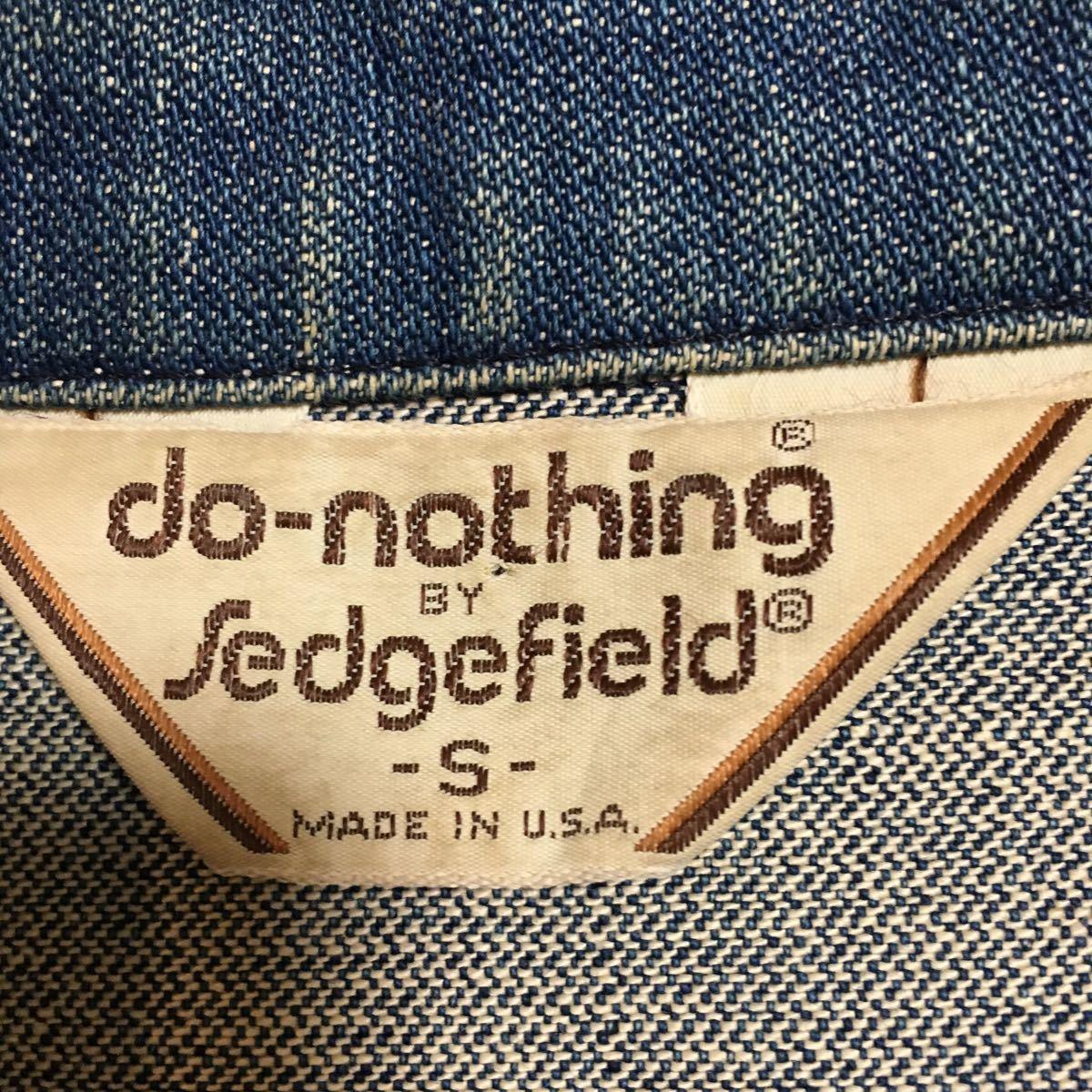 70s USA製 SEDGEFIELD DO-NOTHING デニムジャケット ウエスタンシャツ Sサイズ 古着 ヴィンテージ _画像2