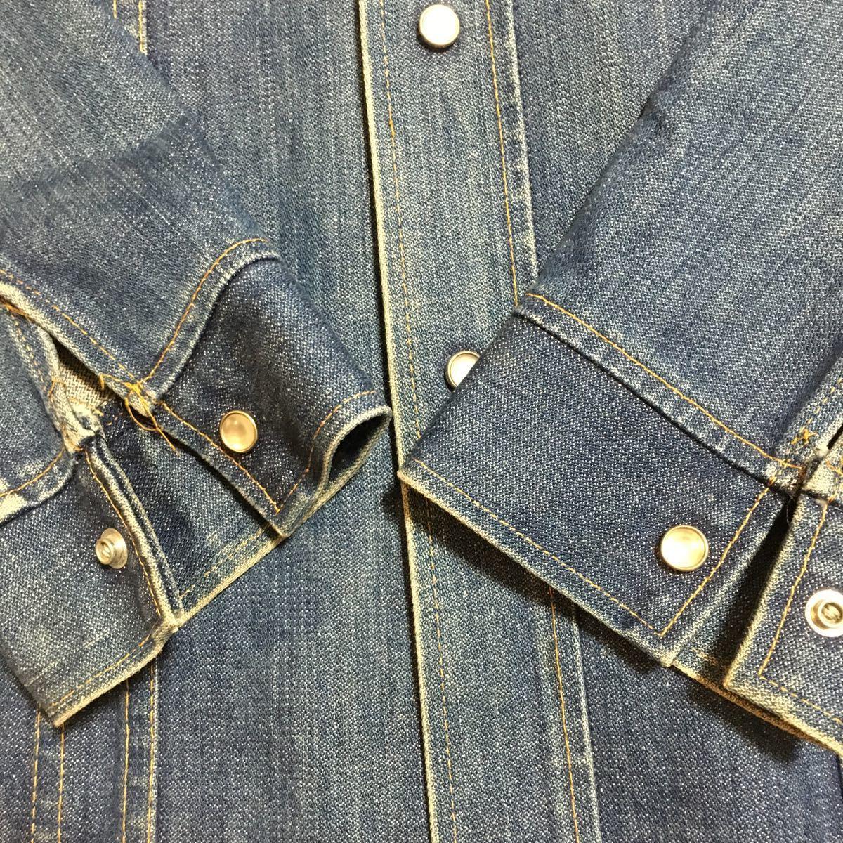 70s USA製 SEDGEFIELD DO-NOTHING デニムジャケット ウエスタンシャツ Sサイズ 古着 ヴィンテージ _画像5