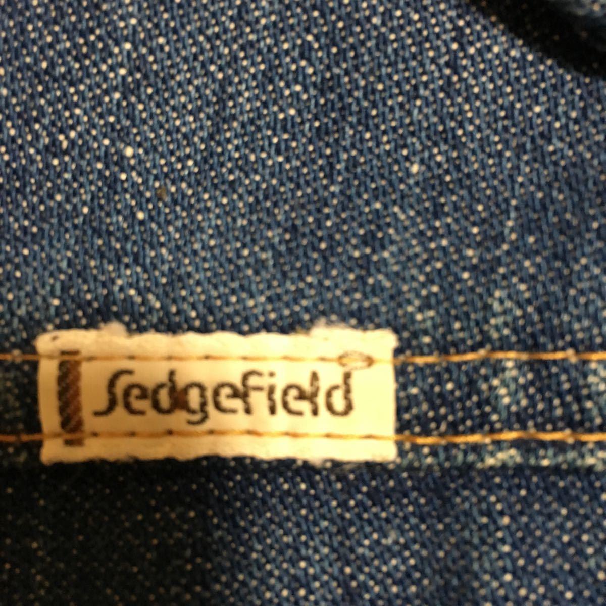 70s USA製 SEDGEFIELD DO-NOTHING デニムジャケット ウエスタンシャツ Sサイズ 古着 ヴィンテージ _画像4