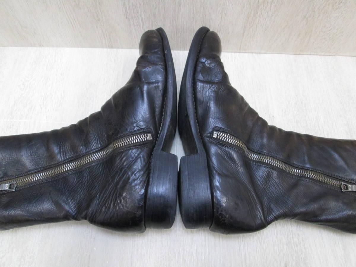 st/128282/1903/グイディ Guidi サイドジップ ブーツ レザー/ブラック/サイズ43(JP約27.5cm)_画像7