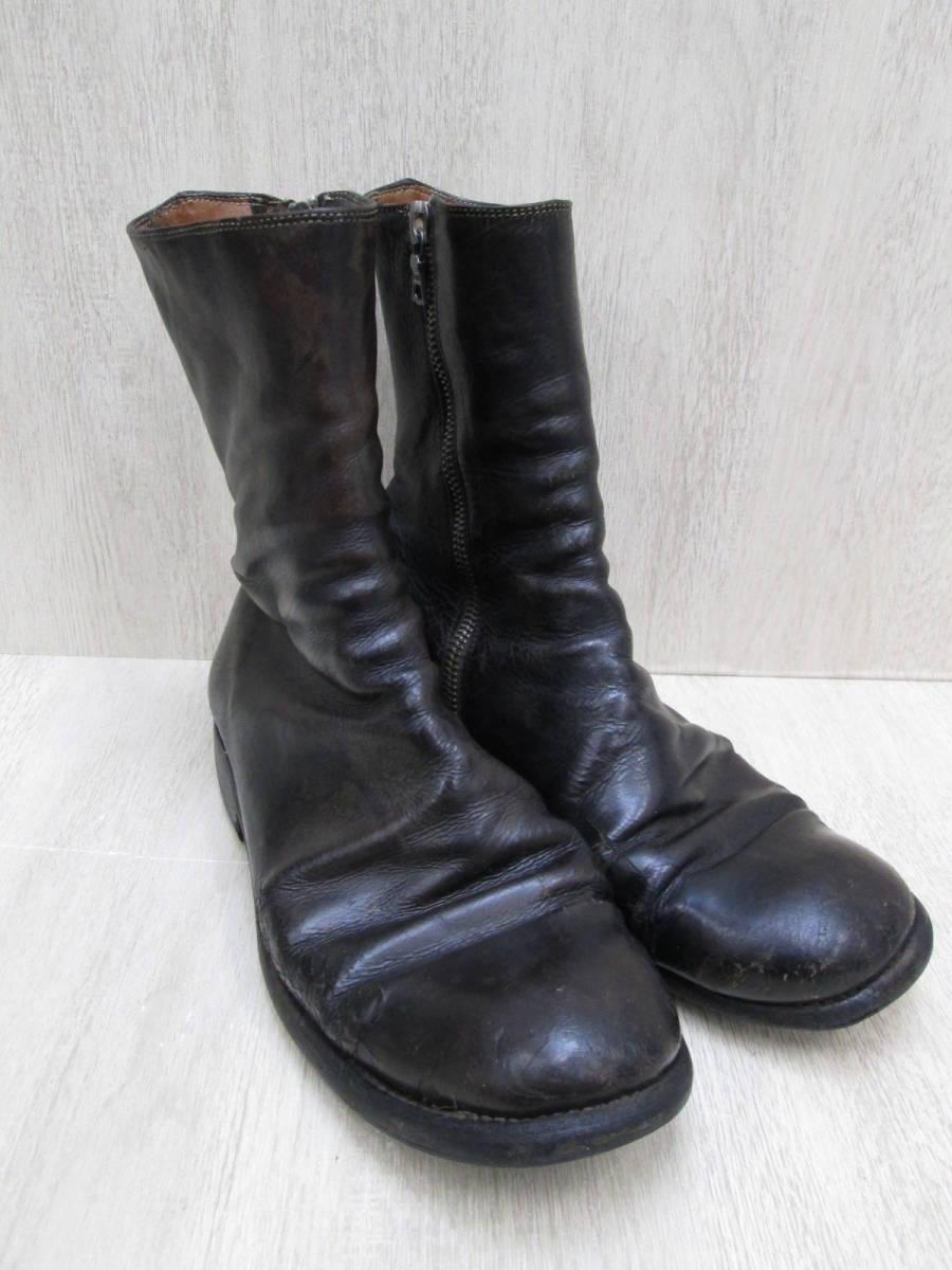 st/128282/1903/グイディ Guidi サイドジップ ブーツ レザー/ブラック/サイズ43(JP約27.5cm)_画像2