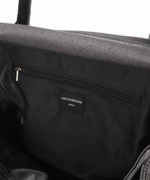 新品未使用 UNSTANDARD プレミアムPUレザートートバッグ 黒 ブラック レザー トート バッグ ボストンバッグ レザーバッグ 2WAY 変形 A4収納