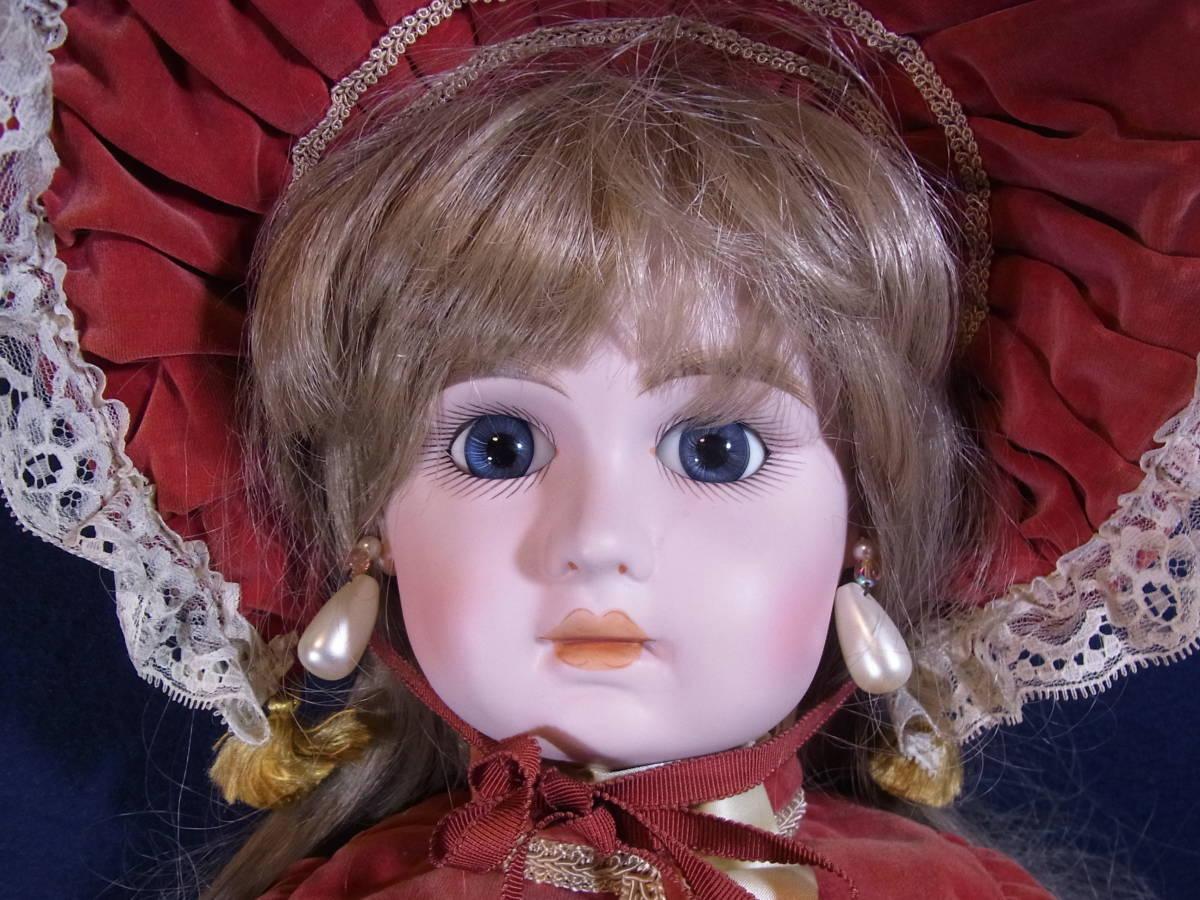 コレクターズドール CD-141 JUMEAU ジュモー NO.008 リプロ 67cm ビスクドール*抱き人形