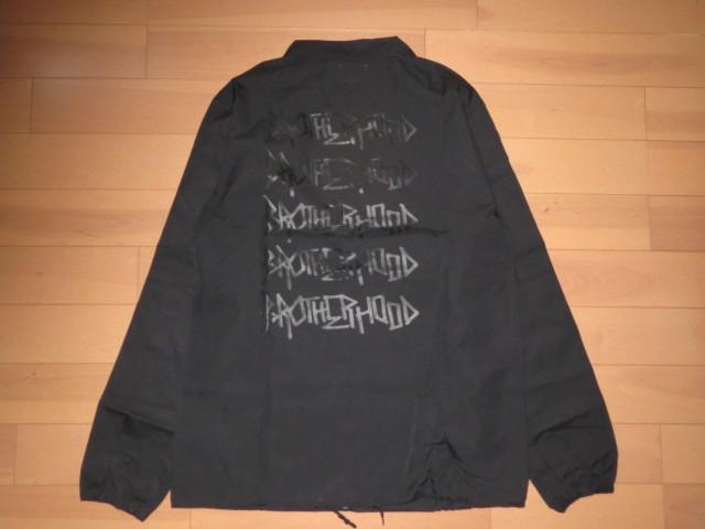 2018 ビッグサイズ Brother hood ブラザーフッド Iconic Coach Jacket 黒 正規品 新品未使用 タグ付き 撮影,採寸の為開封 人気完売XLサイズ_ビッグサイズ
