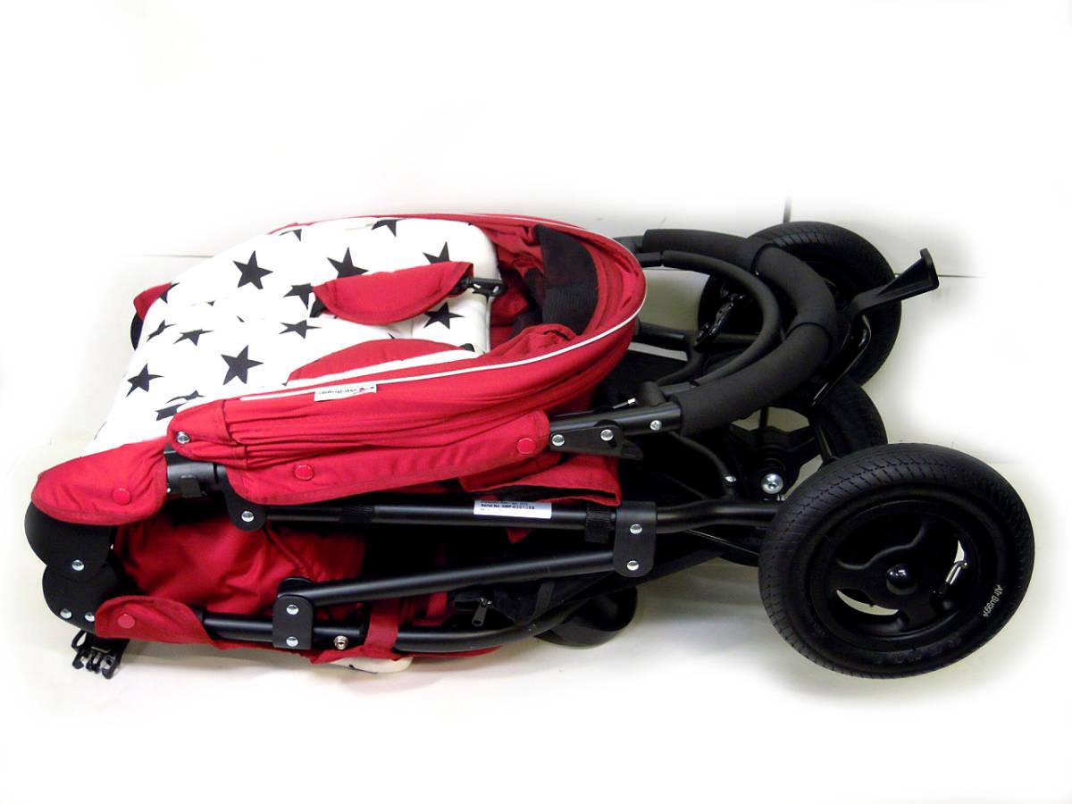 ▽Air Buggy COCO ベビーストローラー エアバギー ココ ブレーキモデル 2013年製 空気入れ・各種カバー付き ベビーカーε_画像3
