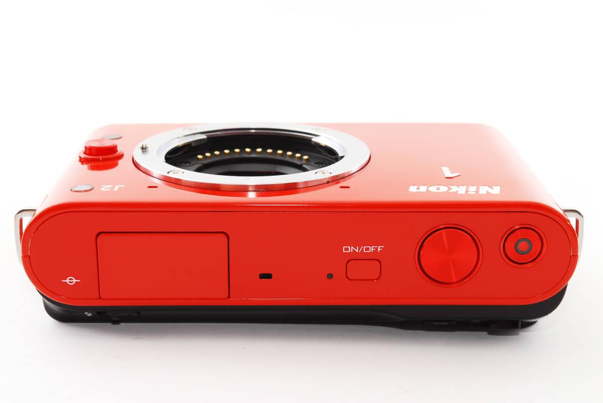 Nikon 1 J2 オレンジ ダブルレンズキット★極上美品★ミラーレス一眼始めるならこれ!新品SDカード、レンズフード付き?