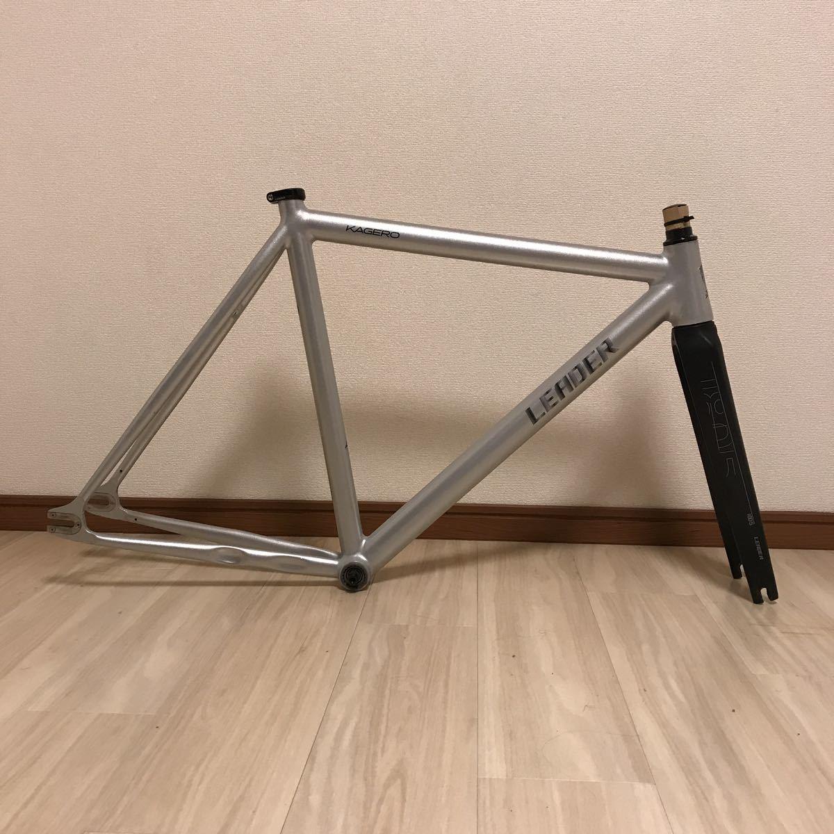 leader bikes kagero リーダーバイク カゲロウ サイズM 極上美品!! ピスト フレーム カーボンフォーク