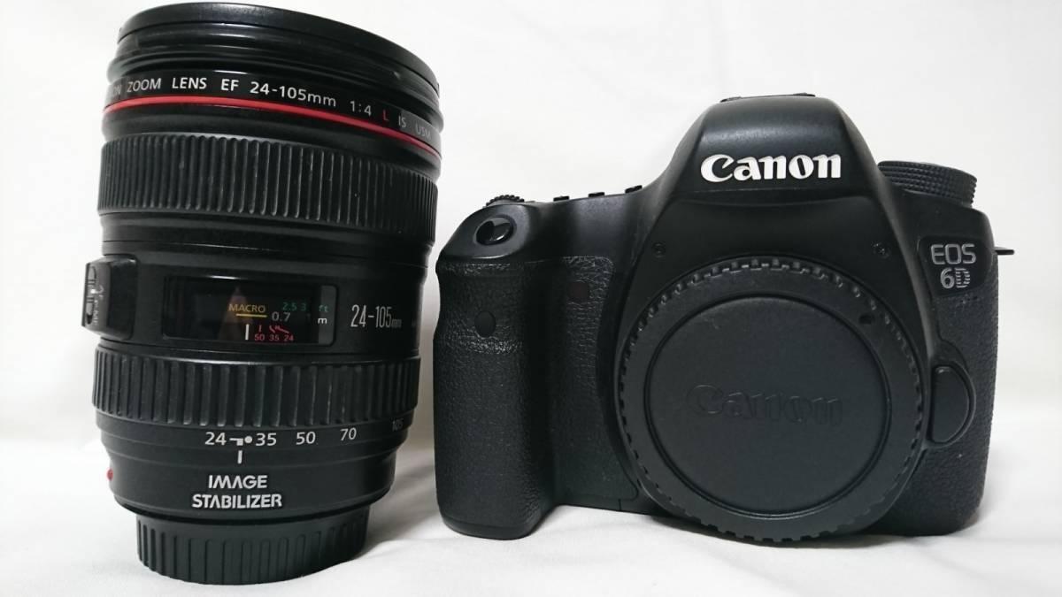1円スタート!お買い得品!Canon EOS 6D EF 24-105mm F4 L IS USMレンズキット