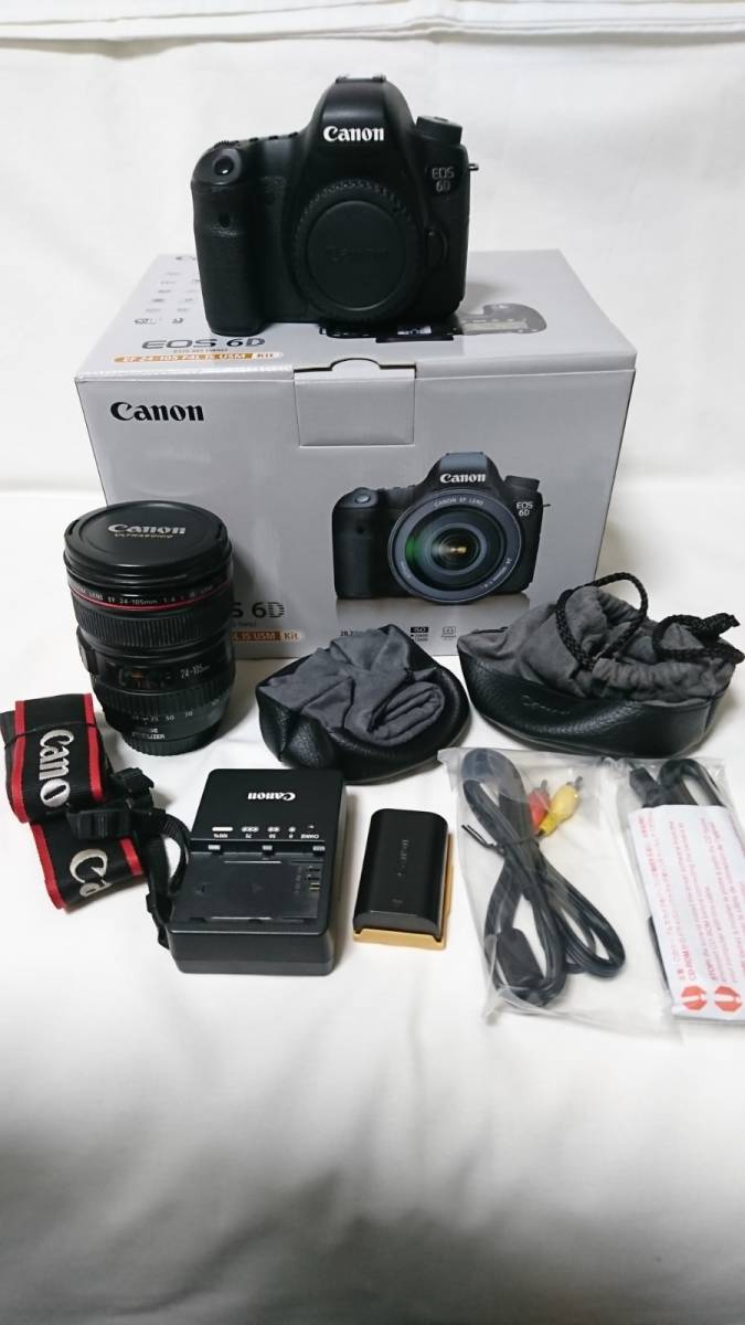 1円スタート!お買い得品!Canon EOS 6D EF 24-105mm F4 L IS USMレンズキット_画像2
