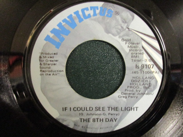 The 8th Day : If I Could See The Light 7'' / 45s ★ Invictus / Soul / Funk ☆ 5点で送料無料_画像1
