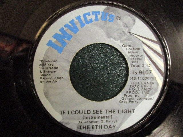 The 8th Day : If I Could See The Light 7'' / 45s ★ Invictus / Soul / Funk ☆ 5点で送料無料_画像2