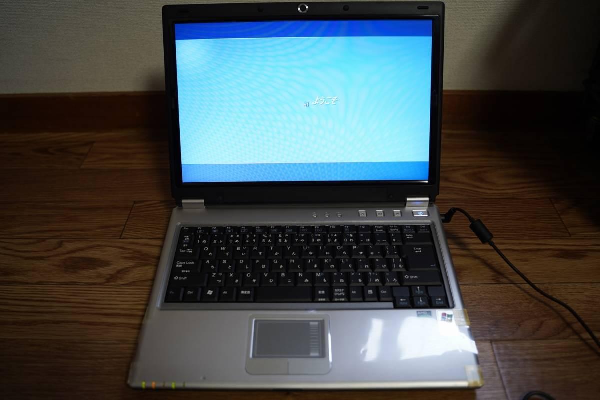 【美品】FRONTIER フロンティア M54JE ノートパソコン PC Windows XP_画像3