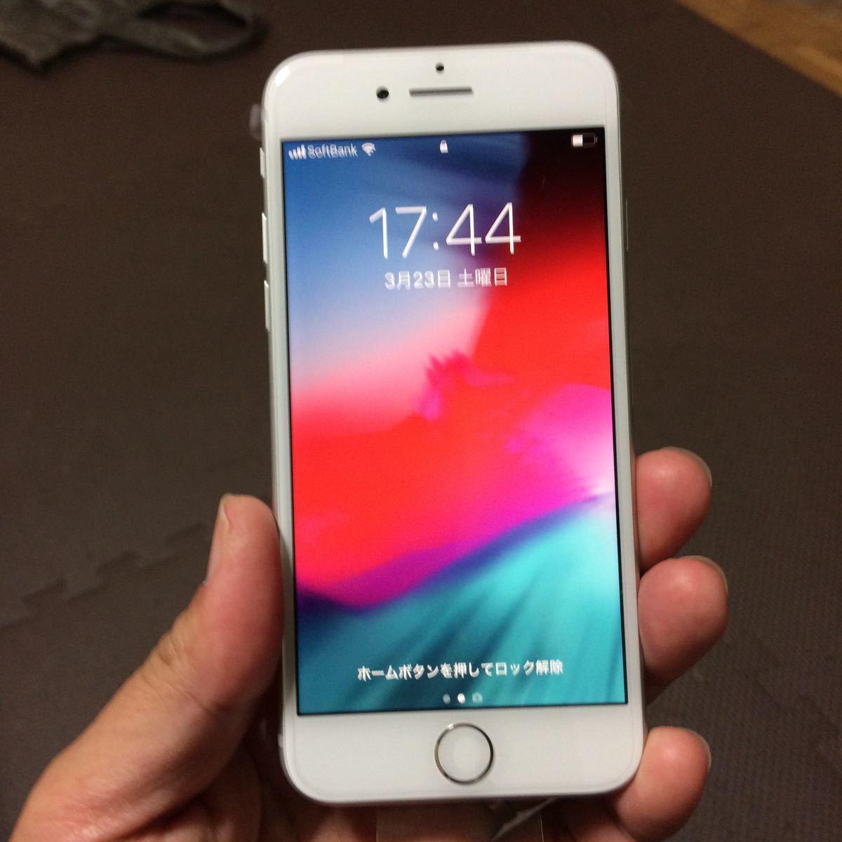 新品同様 iPhone8 64GB シルバー SIMフリー 元ソフトバンク 本体のみ