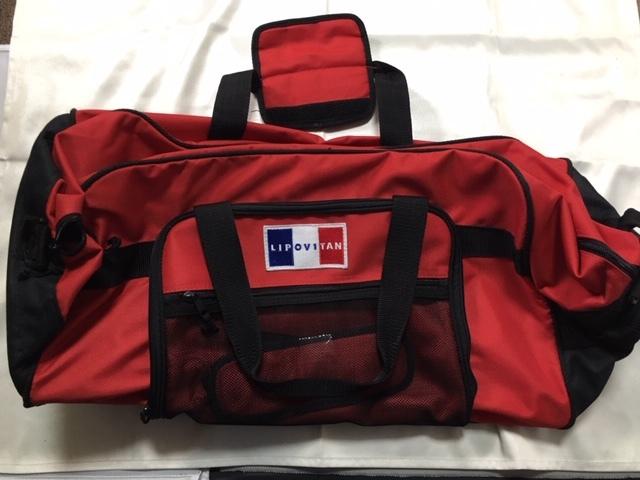 送料込 未使用 リポビタンD 3WAY キャリーバッグ プレゼント 当選品 旅行カバン ショルダー ボストンバッグ 赤