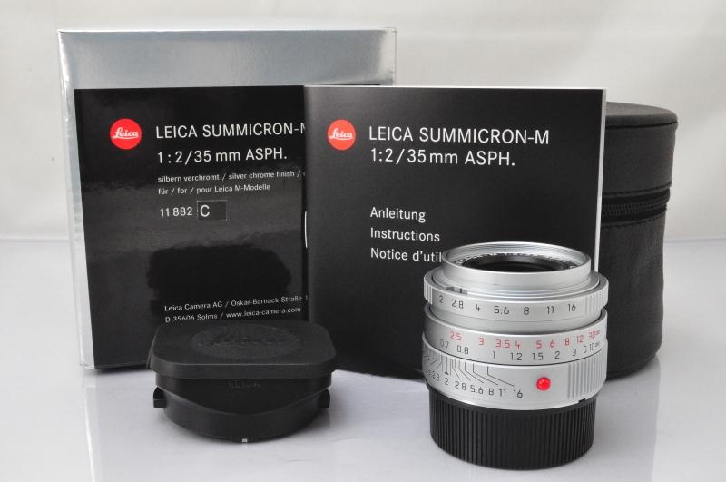 ★★新品同様 Leica SUMMICRON-M 35mm F/2 ASPH E39 6Bit Lens in Silver w/Box♪♪#3923