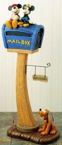 【新品・格安】ディズニースタンドポスト ミッキー&ミニ ミッキー郵便ポスト ミッキーポスト _画像1