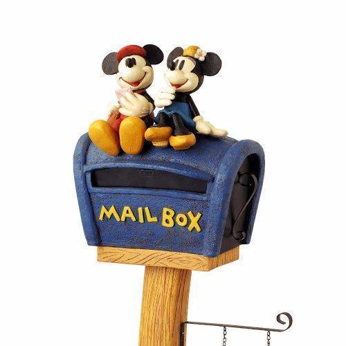 【新品・格安】ディズニースタンドポスト ミッキー&ミニ ミッキー郵便ポスト ミッキーポスト _画像2