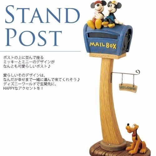 【新品・格安】ディズニースタンドポスト ミッキー&ミニ ミッキー郵便ポスト ミッキーポスト _画像3