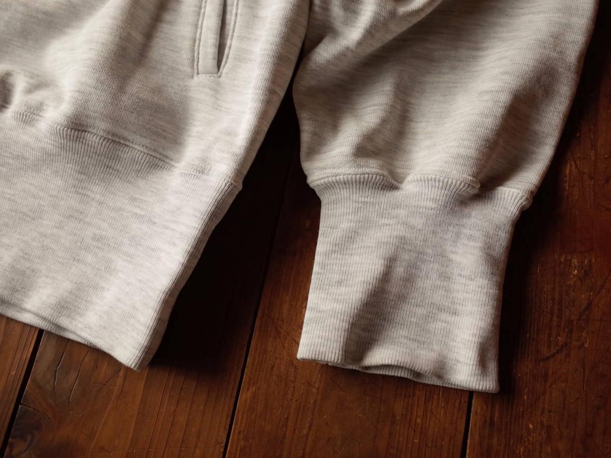 【美品】 90's adidas デサント製 霜降りグレー フーディ パーカー プルオーバー デカロゴ ポケット付き 春物 ビンテージ レア 希少品 ★_画像5
