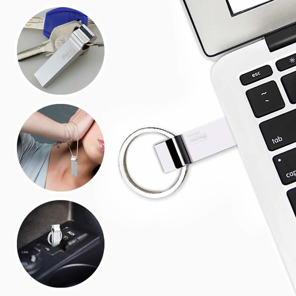 Fheimin USBメモリー 32GB USB3.0 Super Speedメモリ キーホルダーデザイン アルミ製 金属製 耐衝撃 防滴 防塵 (USB3.0 32GB) #795500_画像6