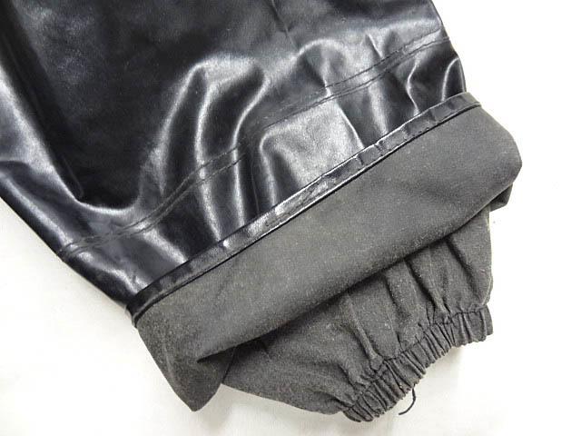 ビンテージ イギリス軍 英国 UK レア 黒 ブラック PVC ラバー ビニール 素材 ロング コート レインコート 防水 オーバー コート 珍品 希少_画像6