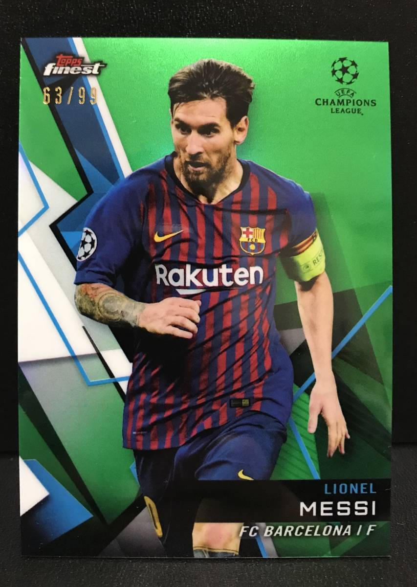 【 Lionel Messi 】2018-19 Topps Finest UEFA Champions League Base Green Refractor 99枚限定!!メッシ バルセロナ
