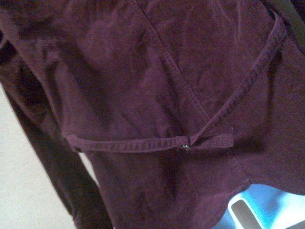 h152-q GLOVE HOUSE コーデュロイ長袖シャツ 赤系ブラウン L ポケット3つ 後ろに絞りあり 綿100% _画像7