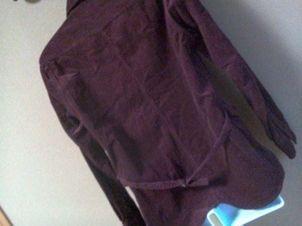 h152-q GLOVE HOUSE コーデュロイ長袖シャツ 赤系ブラウン L ポケット3つ 後ろに絞りあり 綿100% _画像9