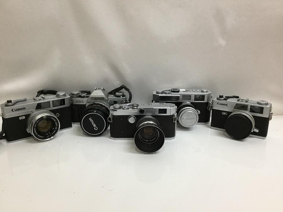 I★1円~ジャンク扱い品 キャノン CANON カメラ QL 7 AE-1 レンズ 1:1.7 45㎜ 40㎜ 1:1.8 50㎜ 1:1.4 f:1.8 5点セット