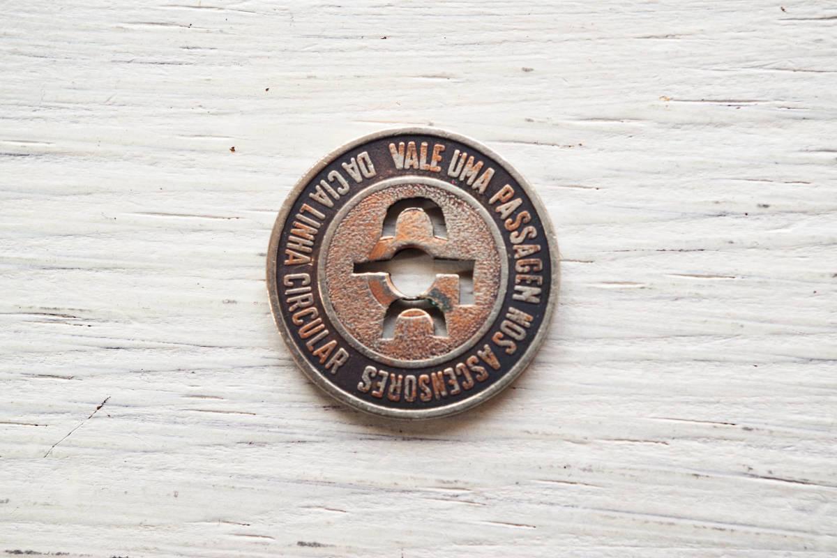 南米■ブラジル リオデジャネイロ トランジットトークン バスの代用貨幣■切符コイン■珍しいヴィンテージコインコレクション 古銭蒐集