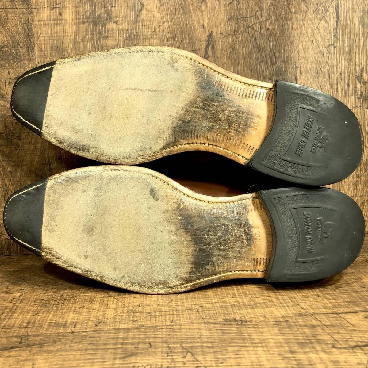 即決■SCOTCH GRAIN■ 26cm 茶 ブラウン スコッチグレイン スワールトゥ ビジネス ドレス メンズ 革靴 靴 レザー_画像2