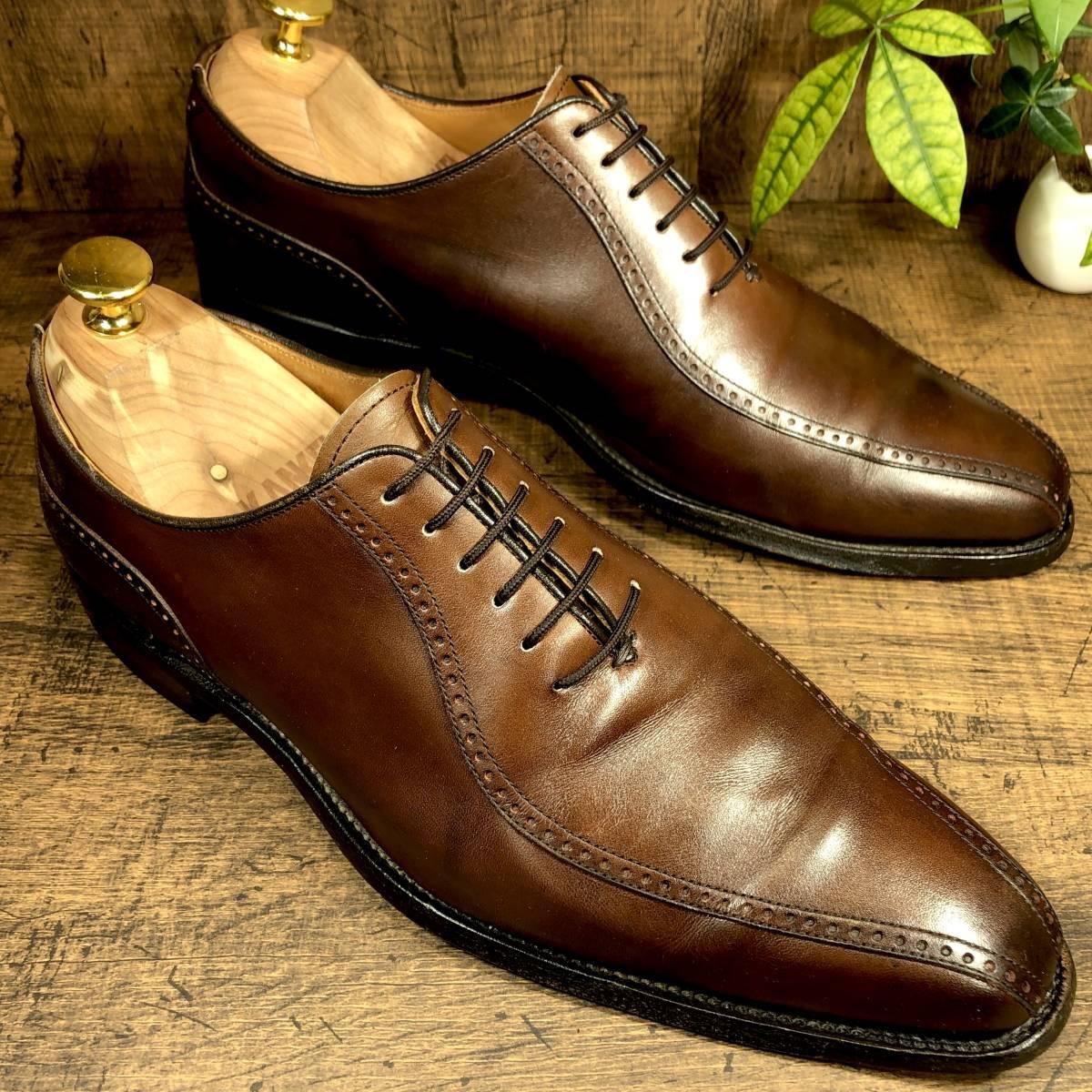 即決■SCOTCH GRAIN■ 26cm 茶 ブラウン スコッチグレイン スワールトゥ ビジネス ドレス メンズ 革靴 靴 レザー