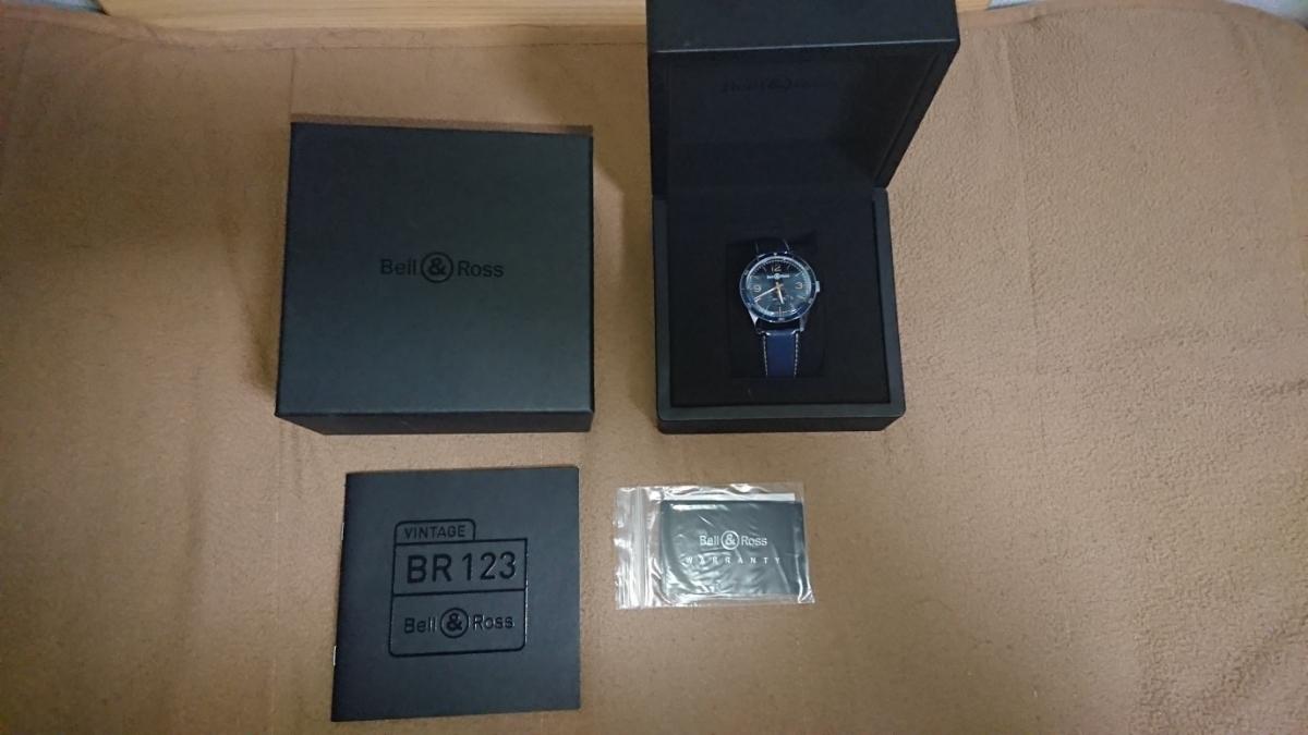 かなりお買い得。【美品】 ベル&ロス ヴィンテージ アエロナバル BR123 BELL&ROSS BRV123-BLU-ST/SCA 腕時計 メンズ 送料無料 ブルー 青色_画像1