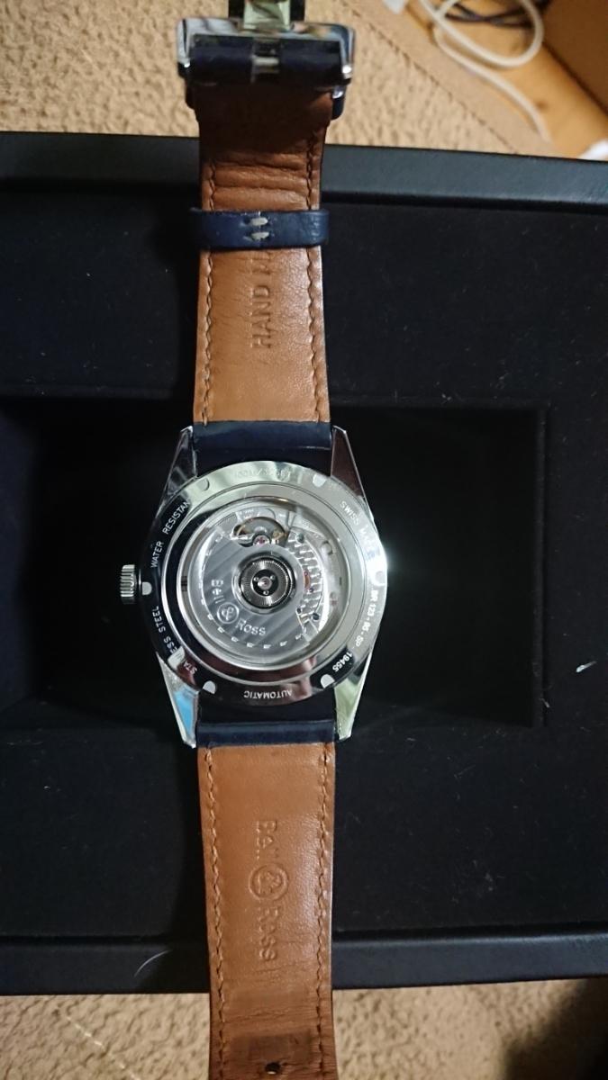 かなりお買い得。【美品】 ベル&ロス ヴィンテージ アエロナバル BR123 BELL&ROSS BRV123-BLU-ST/SCA 腕時計 メンズ 送料無料 ブルー 青色_画像4