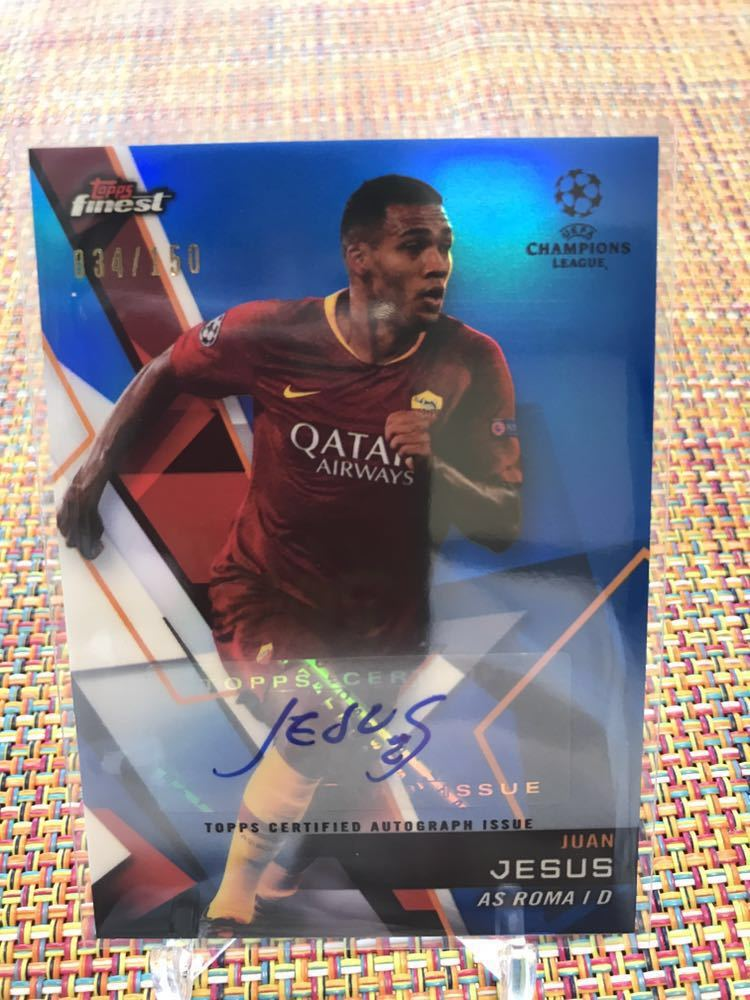 TOPPS FINEST SOCCER ブルー Signatures As roma Jesus/150