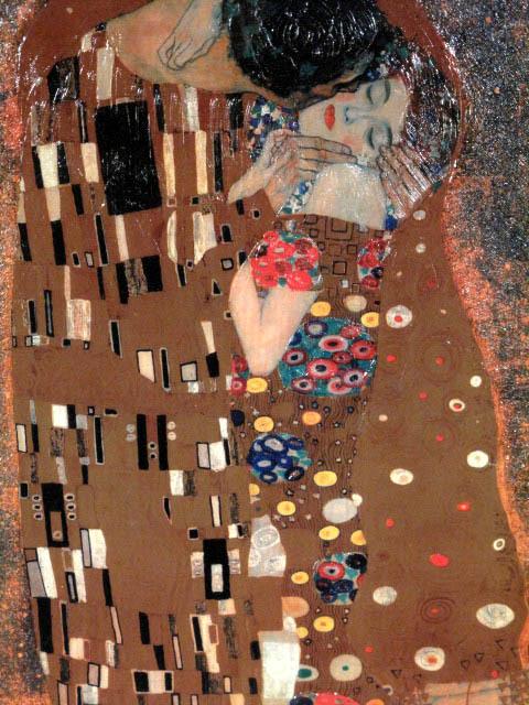 ■グスタフ・クリムト[世界の名画コレクション]『接吻』複製画 額付美品■即決■_画像3