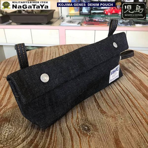 児島ジーンズ KOJIMA GENES DENIM POUCH インディゴ デニムポーチ Lサイズ RNB-993L MADE IN JAPAN_画像3