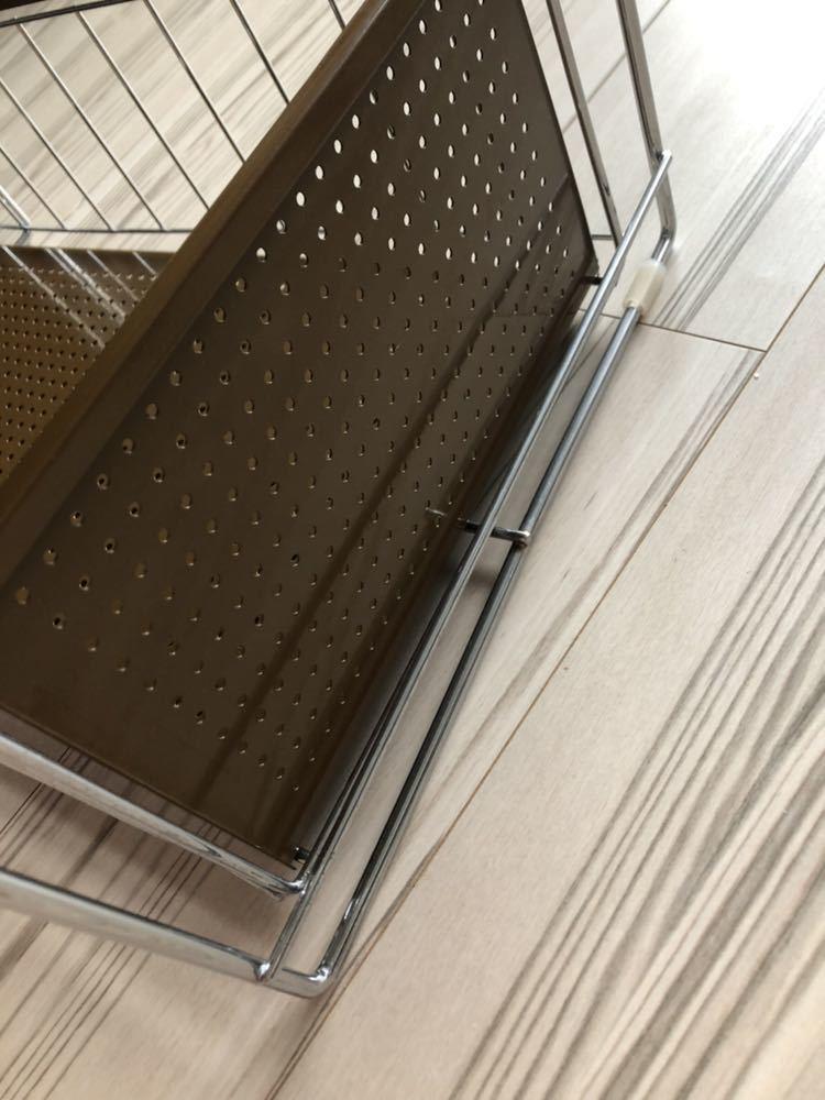 中古: 観音扉用シンク下&調理台下収納スライドラック 3段_画像3