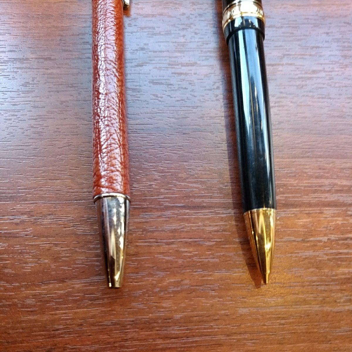 シャーペン ボールペン プラチナ 3776 と 革巻き_画像4