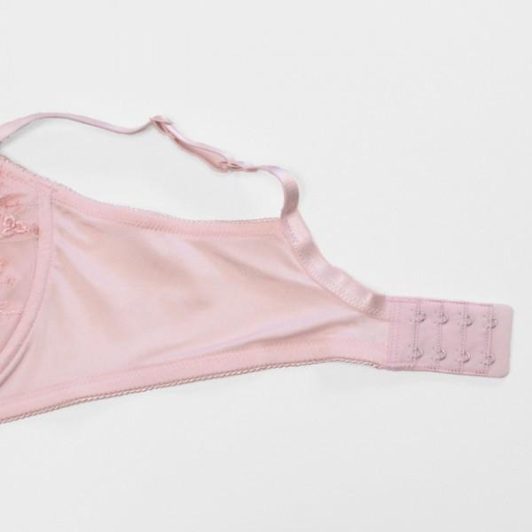 【新品】C85■ふわふわパネルでバストをやさしく包む マタニティブラジャー フルカップ■肌にやさしい 産前 ブラ ピンク 花柄刺繍_画像6