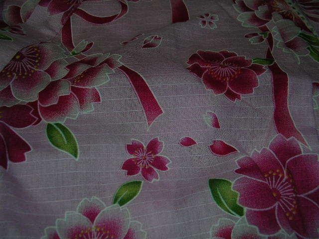 【新品タグ付き N3】甚平 70 花柄 ピンク色_画像2