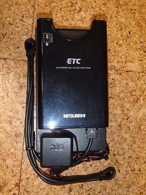 三菱電機製ETC(ナビ用ケース付) 単三乾電池駆動 軽自動車登録済み 動作未確認_画像3