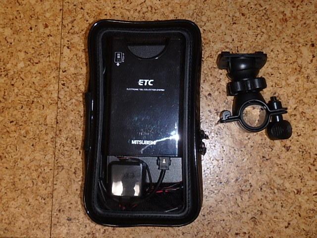 三菱電機製ETC(ナビ用ケース付) 単三乾電池駆動 軽自動車登録済み 動作未確認