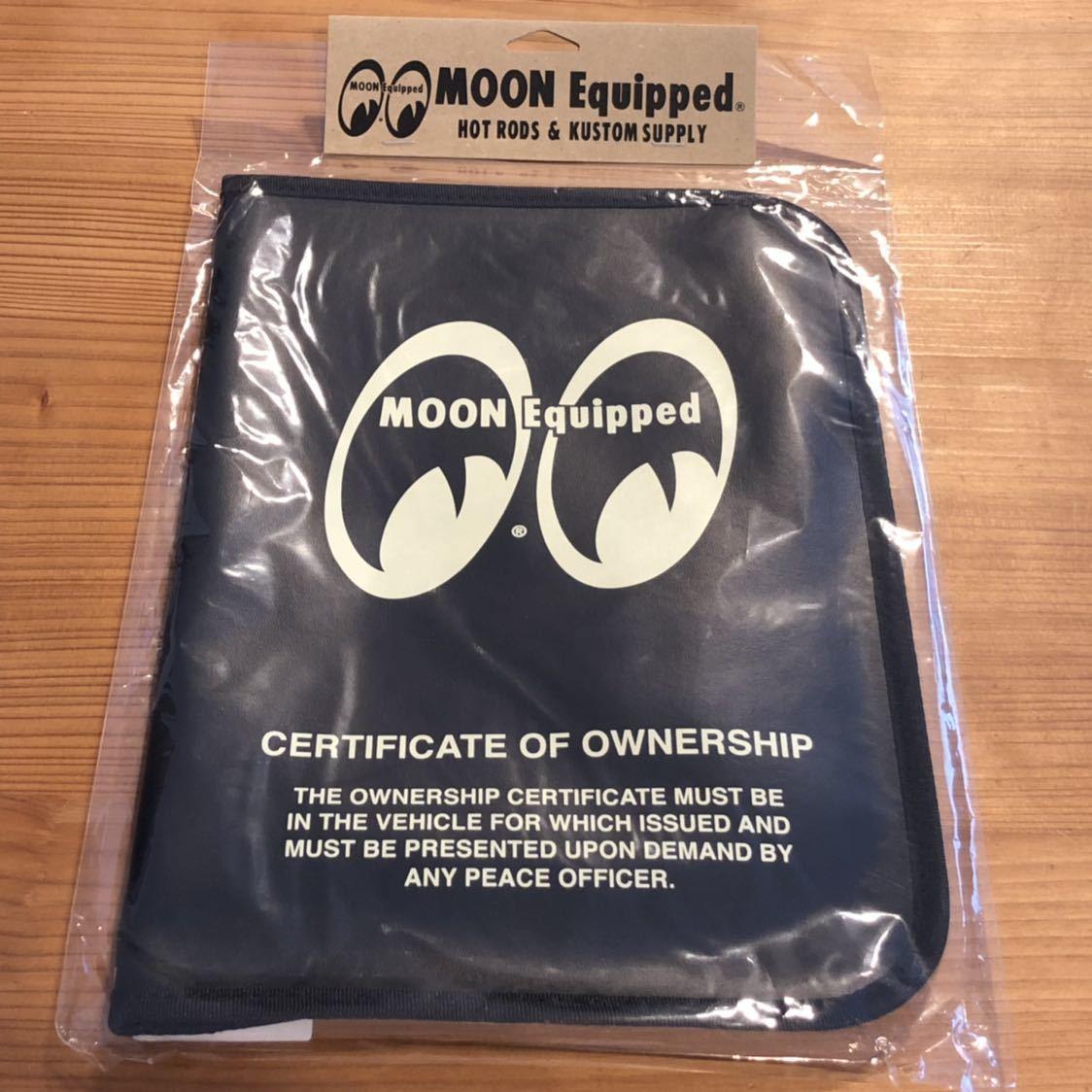 MOON Equipped mooneyes 188円発送可 ムーンアイズ 車検証ホルダー ブラック タイトルホルダー 黒 mooneyes 旅行などの書類にも_画像3